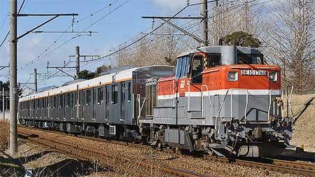 東急6020系が甲種輸送される