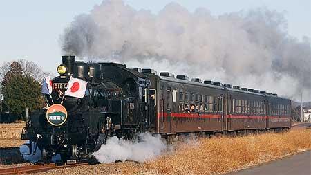 真岡鐵道で「SL新年号」運転