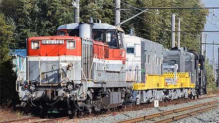 キヤE195-1001+キヤE195-1101が甲種輸送される