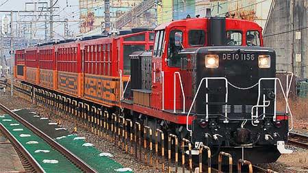 嵯峨野観光鉄道トロッコ客車が吹田総合車両所へ