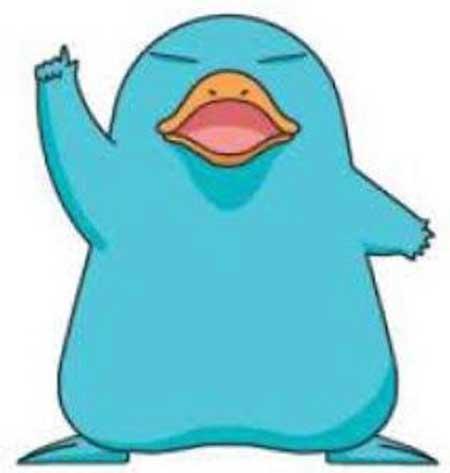 ICOCAのマスコットキャラクター「カモノハシのイコちゃん」