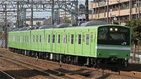201系ND617編成が試運転を実施 鉄道ニュース 2018年2月7日掲載 鉄道 ...