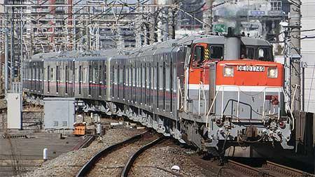 京成3000形3037編成が甲種輸送される