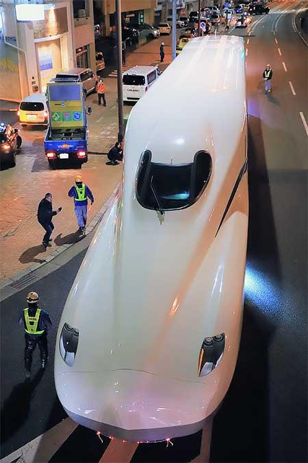JR東海「N700S」が陸送される