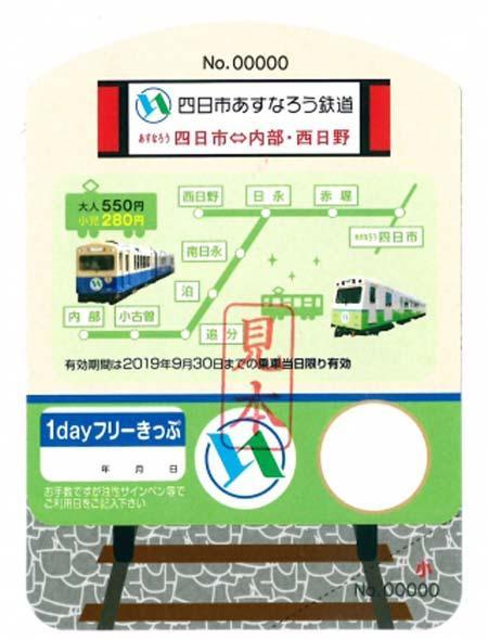 四日市あすなろう鉄道,新デザインの「1dayフリーきっぷ」発売