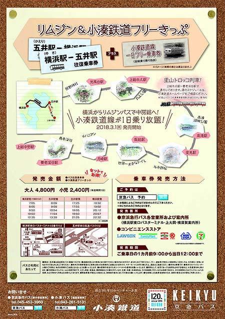 小湊鐵道「リムジン&小湊鉄道フリーきっぷ」発売