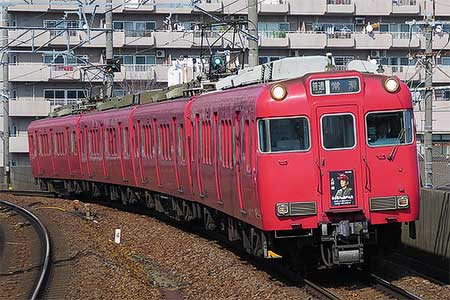 名鉄で「名古屋行き最終列車2018」大杉漣さんの系統板