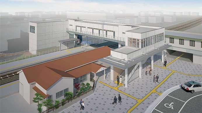 JR東海,3月23日から太多線可児駅のエレベータ・自由通路などの供用を開始