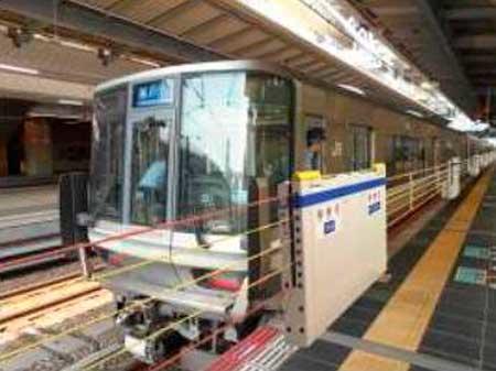 大阪駅に設置される昇降式ホーム柵のイメージ