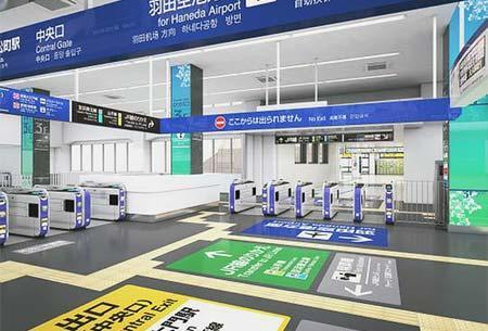 JR東日本・東京モノレール,3月17日から浜松町駅乗換連絡通路の相互通行が可能に