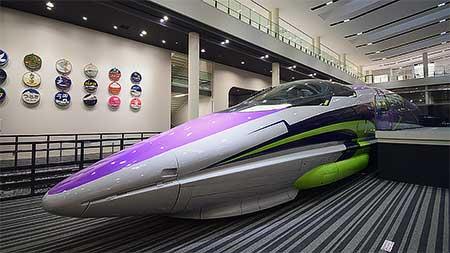 京都鉄道博物館で500系新幹線に「500 TYPE EVA」仕様ラッピング