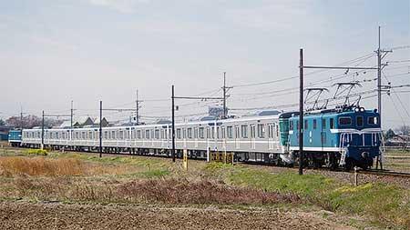東京メトロ13000系第17編成が甲種輸送される