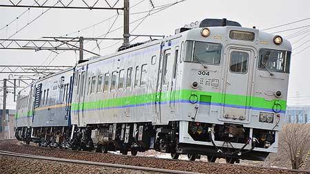 マヤ34 2008が函館本線で運転