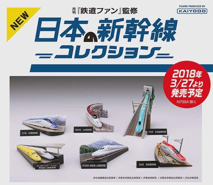 新幹線ミニジオラマフィギュア「月刊鉄道ファン監修 日本の新幹線コレクション」発売