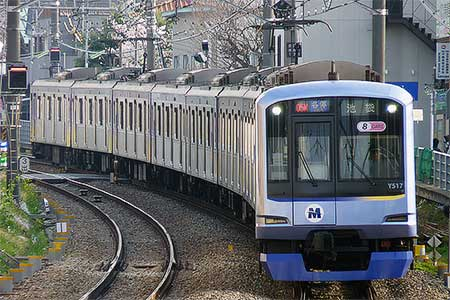 横浜高速鉄道Y500系Y517編成が営業運転を開始