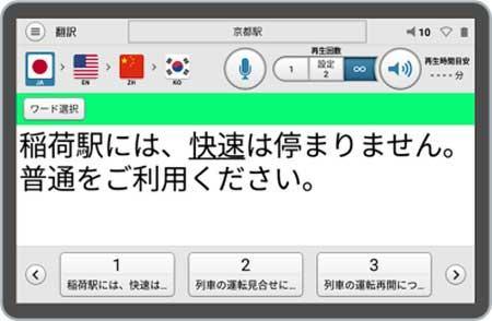 JR西日本,多言語音声翻訳放送システムを導入