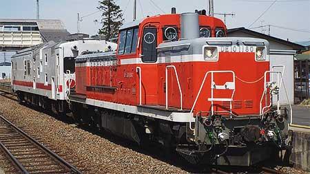 マヤ50 5001を使用した建築限界検測が石巻線と東北本線で行なわれる