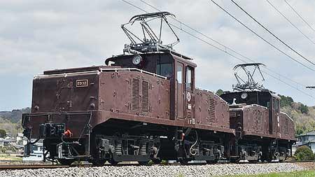 伊豆箱根鉄道,ED32+ED33イベント展示のため重連で走行