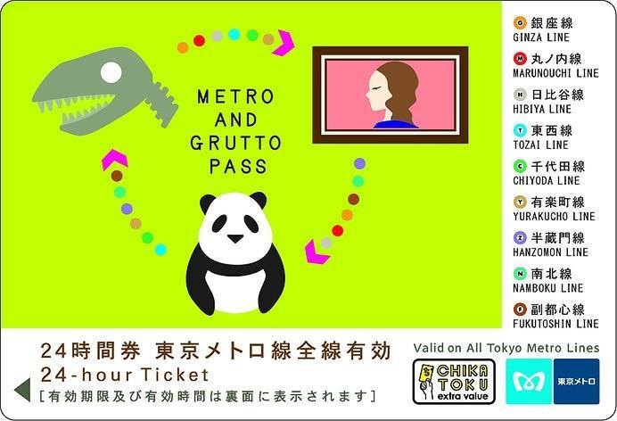 「メトロ&ぐるっとパス」限定デザイン24時間券
