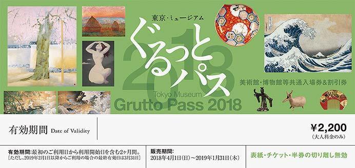 「東京・ミュージアム ぐるっとパス2018」