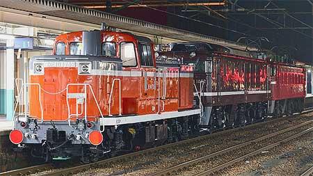 EF64 1052とDE10 1752が秋田総合車両センターから出場