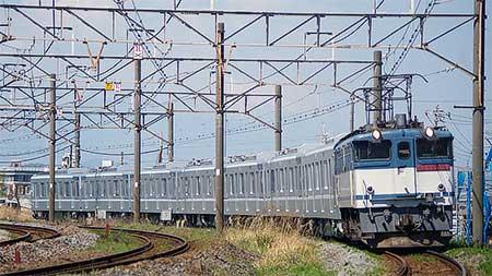 東京メトロ13000系第18編成が甲種輸送される