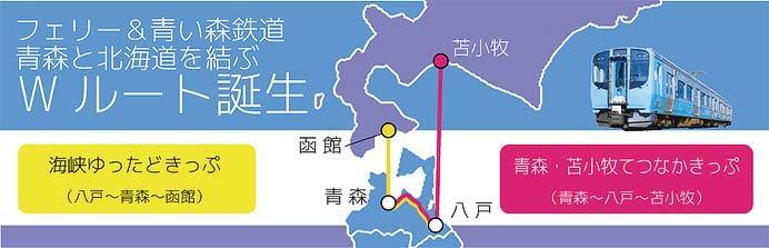 青い森鉄道×津軽海峡フェリー「海峡ゆったどきっぷ」発売