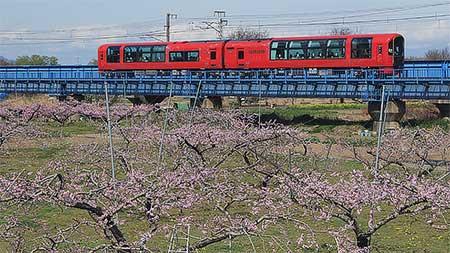 「雪月花」が,しなの鉄道に入線