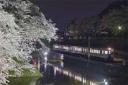 奥羽本線山形—北山形間で桜開花にあわせた減速運転