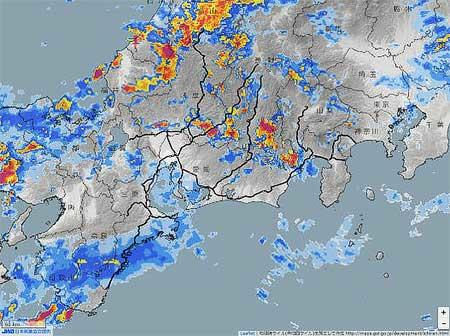JR東海,在来線全線区にレーダ雨量を活用した運転規制を導入