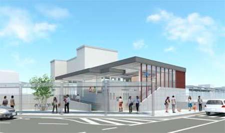 奈良線 新田駅東口改札・東口駅前広場を5月28日から供用開始