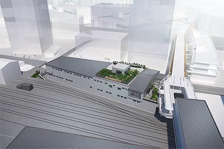 「ロマンスカーミュージアム」は海老名電車基地に隣接する