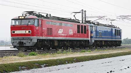 EF510-2+EF510-504の重連単機運転