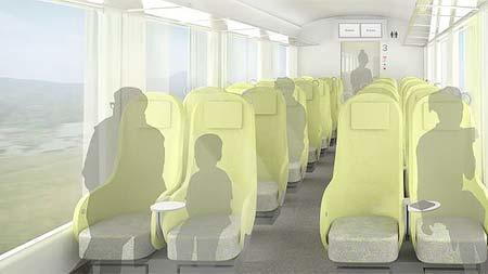 新形特急車両の客室イメージ