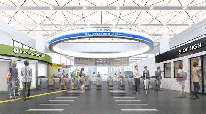 西武,西武新宿駅をリニューアル
