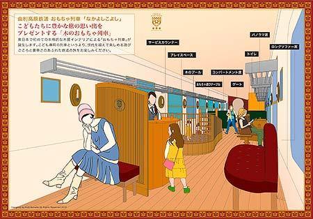 由利高原鉄道,おもちゃ列車「なかよしこよし」のデザインを発表