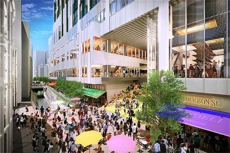 「渋谷ストリーム」広場と大階段のイメージ