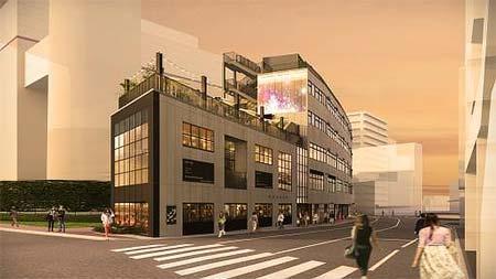 「渋谷代官山Rプロジェクト」B棟イメージパース
