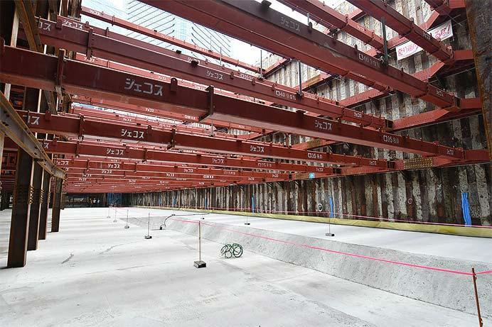 「うめきた新駅」(仮称)工事現場が公開される