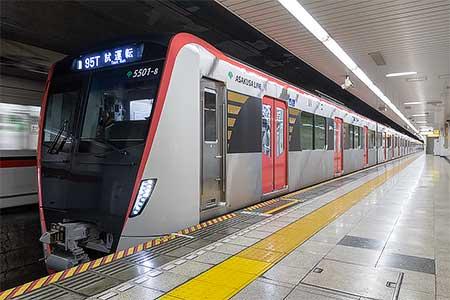 東京都交通局5500形が浅草線で試運転