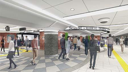 リニューアル後の烏丸駅西改札口付近のイメージ