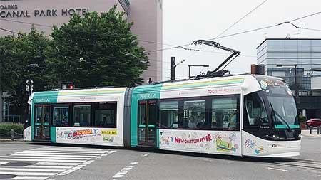 富山ライトレールと富山地方鉄道で『TGC TOYAMA 2018』のPRラッピング