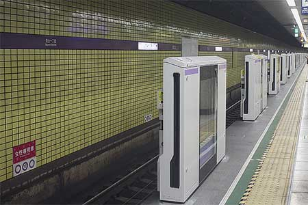 東京メトロ半蔵門線青山一丁目駅に可動式ホーム柵が設置される
