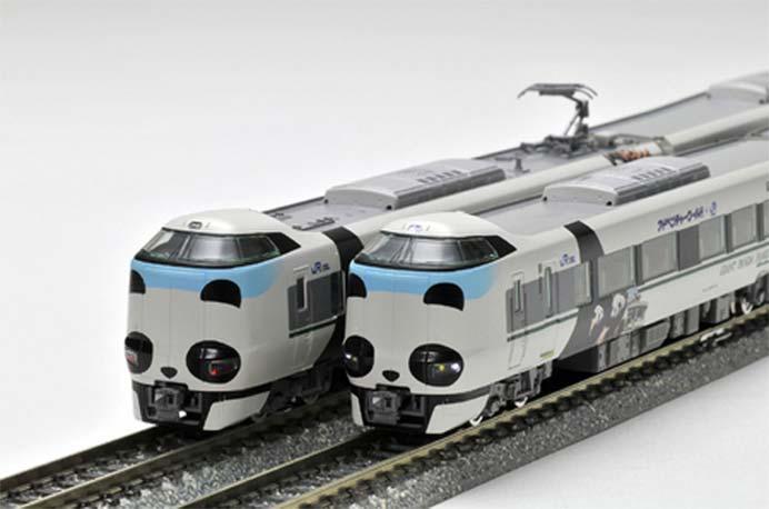 アドベンチャーワールド×TOMIX,Nゲージ鉄道模型「JR287系特急電車(パンダくろしお・Smile アドベンチャートレイン)セット」発売
