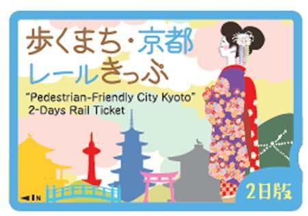 「歩くまち・京都レールきっぷ(2日版)」のイメージ