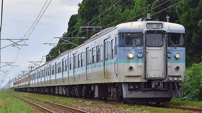 115系T1022編成+T1046編成が新潟へ