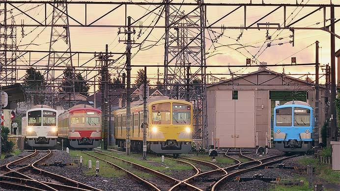 西武多摩川線の101系が4色に
