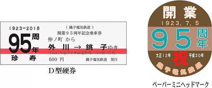 銚子電鉄「開業95周年記念乗車券」発売