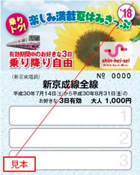 新京成「乗りトク!楽しみ満載夏休みきっぷ」発売