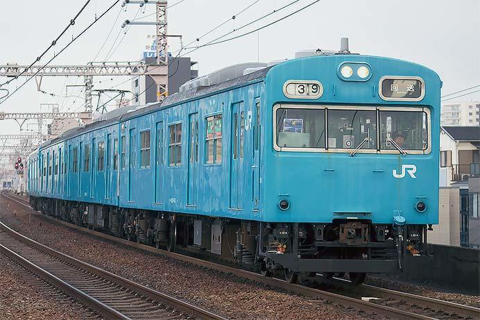 103系HJ408編成が吹田へ